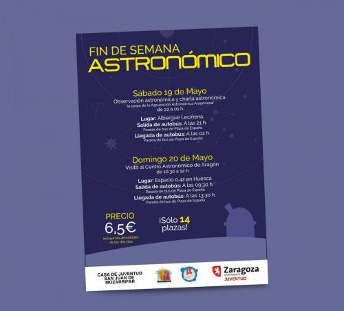 Cartel actividad astronómica San Juan de Mozarrifar