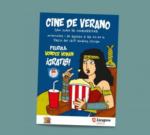 Cartel cine de verano San Juan de Mozarrifar