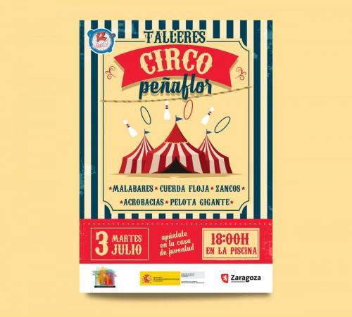 Cartel Talleres Circo Peñaflor