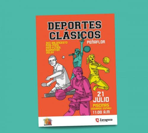 Cartel Deportes Clásicos Peñaflor