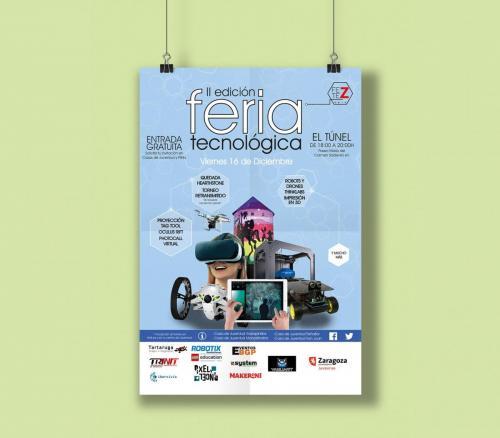 Identidad y cartel para Fería Tecnológica Zaragoza