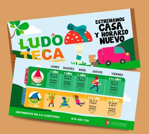 Flyer ludoteca La Puebla de Alfindén