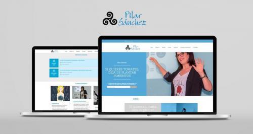 Diseño, maquetación y actualización de la página web de Pilar Sánchez.
