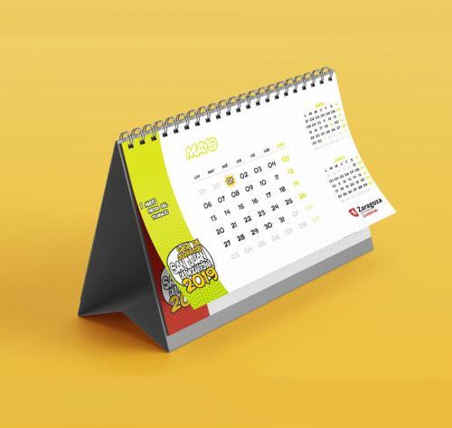 Diseño de calendario para la Casa de Juventud de San Juan de Mozarrifar 2019