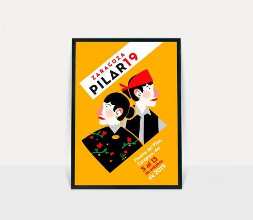 Propuesta cartel Fiestas del Pilar Zaragoza 2019