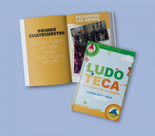 Libro de recuerdos de actividades curso 2017-2019 para la Ludoteca Municipal de La Puebla de Alfindén